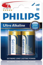 Philips Ultra Alkaline C LR14 2-pack