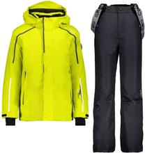 CMP Boy Set Jacket+Pant Barn skijakker fôrede Gul 116