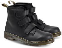 Dr. Martens, Black 1460 Velcro Strap Boots