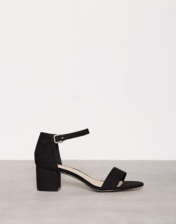 NLY Shoes Low Block Heel Sandal Svart