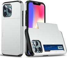 Hybrid Skal Med Kortplats Till Iphone 13 Pro Max - Silver