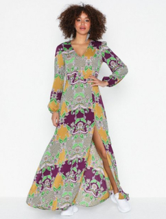 Glamorous Long Sleeve Maxi Bohem Dress