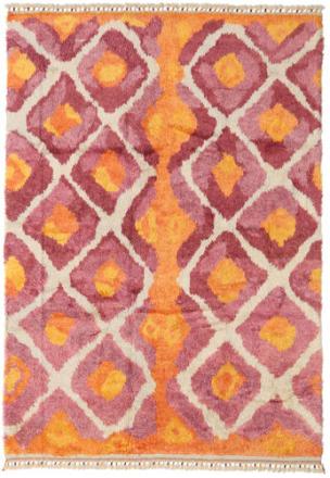 Handknotted Berber Shaggy matta 196x281 Modern Matta
