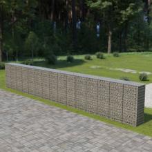 vidaXL Gabionmur i galvaniserat stål 900x50x150 cm