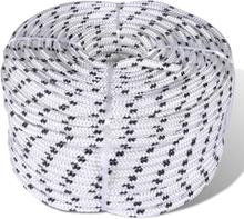 vidaXL Båtlina flätad 8 mm x 500 m polyester vit