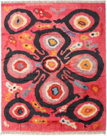 Handknotted Berber Shaggy matta 282x349 Modern Matta