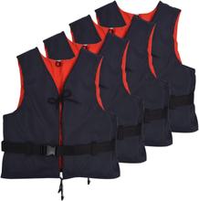 vidaXL Räddningsvästar 4 st 50 N 50-70 kg marinblå