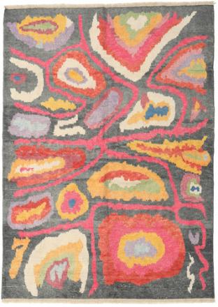 Handknotted Berber Shaggy matta 178x249 Modern Matta