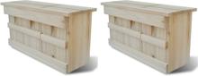vidaXL Fågelholkar 2 st trä 44x15,5x21,5 cm