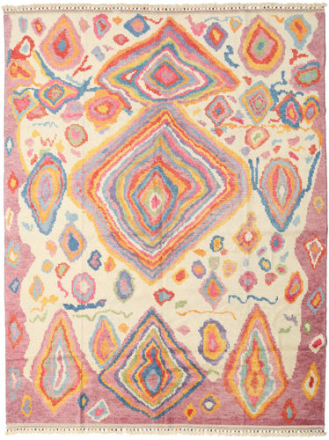 Handknotted Berber Shaggy matta 245x328 Modern Matta
