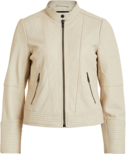 OBJECT COLLECTORS ITEM Leather Jacket Women Beige