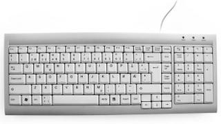 Tastatur KENSON SpaceSaver norsk sølv