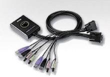 Aten 2-Port KVM Switch Svart