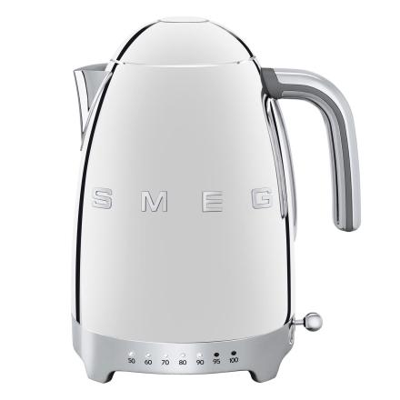 Smeg - Smeg Vannkoker med temperatur 1,7L, Krom