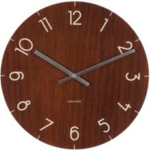 Wall clock Glass Wood small dark wood