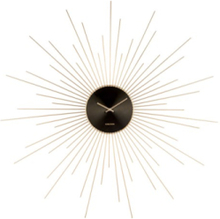 Wall clock Extreme Peony steel gold