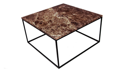 Jaguaren - Soffbord i marmor 75x75cm - Brun