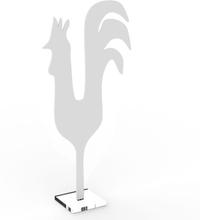 Rooster h 47cm, vit