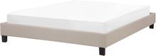 Sänky 160x200 cm beige ROANNE