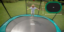 BERG 520x345cm oval trampoline Grand Champion grønn + DLX Nett