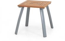 Nice sidobord Vit med teak 40x40 cm