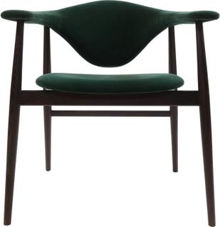 Masculo Dining Chair - Rökt Ek & Gubi Velvet (Velutto) G075/787