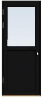 Fönsterdörr/altandörr Energi Premium 9, 20/12, Svart