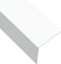 vidaXL Vinkelstång 90° L-profil 5 st aluminium vit 170cm 50x50 mm