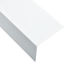 vidaXL Vinkelstång 90° L-profil 5 st aluminium vit 170cm 100x50 mm