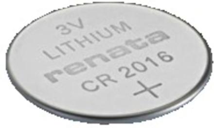 Renata 3V Lithium Coin Cells CR2016 MFR Batteri Grå OneSize
