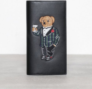 Polo Ralph Lauren Bear Wallet Small Lommebøker Black