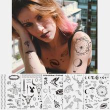 Halloween Gesicht Temporäre Tattoo Aufkleber Wasserdicht Schweißdicht Atmungsaktiv Kunst Körper Fake Tattoo Transferpapi