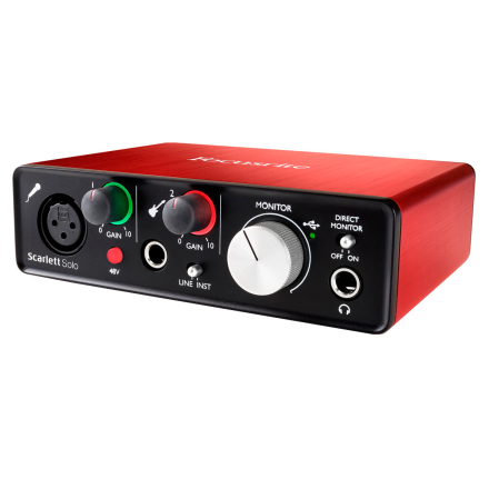 Focusrite ScarlettSolo(2ndgen) USB-lydkort