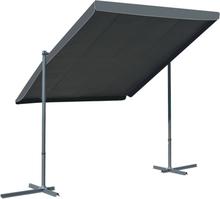 vidaXL Paviljong med lutningsbart tak antracit 350x250x225 cm