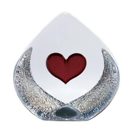 Målerås Glasbruk - Hjerte stort