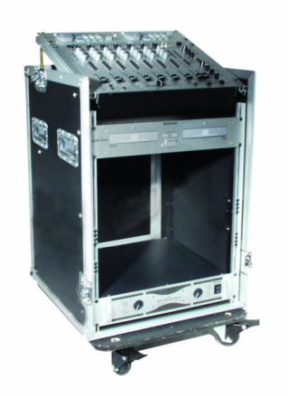 rack-kasse tre 19'' m. mikser-top, 10 + 12 units