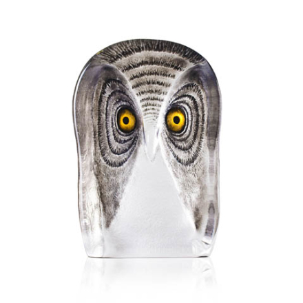 Målerås Glasbruk - Wildlife, Ugle, Stor, Malet