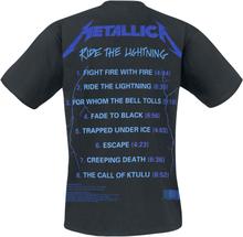 Metallica - Ride The Lightning -T-skjorte - svart