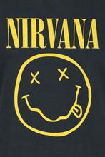 Nirvana - Smiley Logo -T-skjorte - svart