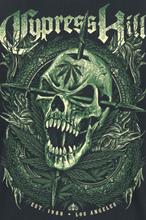 Cypress Hill - Fang Skull -T-skjorte - svart