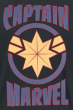Captain Marvel - Logo - Star -T-skjorte - svart