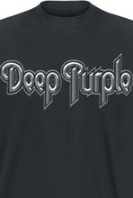 Deep Purple - Silver Logo -T-skjorte - svart