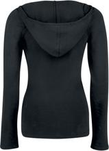 Fashion Victim - Hettegenser med blonder -Langermet skjorte - svart
