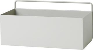 Ferm Living - Wall Box Regtangle, Lys grå