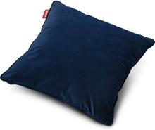 Square Velvet Prydnadskudde Dark blue 50 x 50 cm