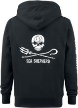 Sea Shepherd - Jolly Roger -Hettegenser - svart