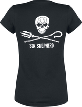 Sea Shepherd - Jolly Roger -T-skjorte - svart