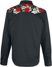 Banned Alternative - Skull Rose -Langermet skjorte - svart