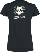 Enhjørning - Panda -T-skjorte - svart