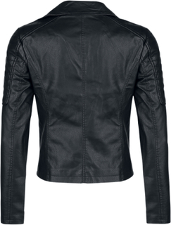 Noisy May - Rebel PU Jacket -Jakke i kunstskinn - svart